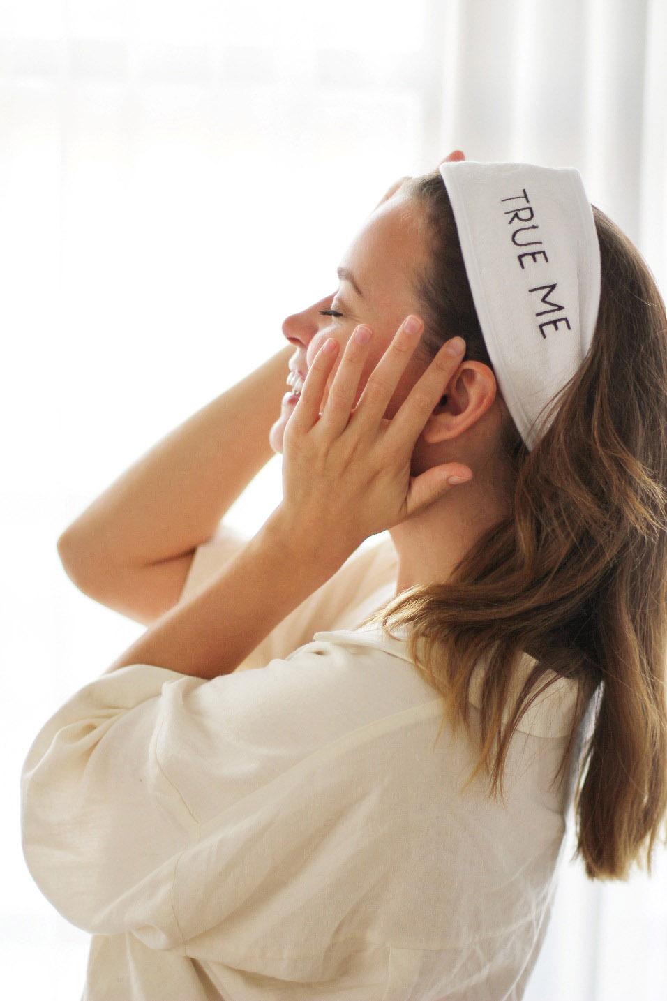 Махровая повязка на голову