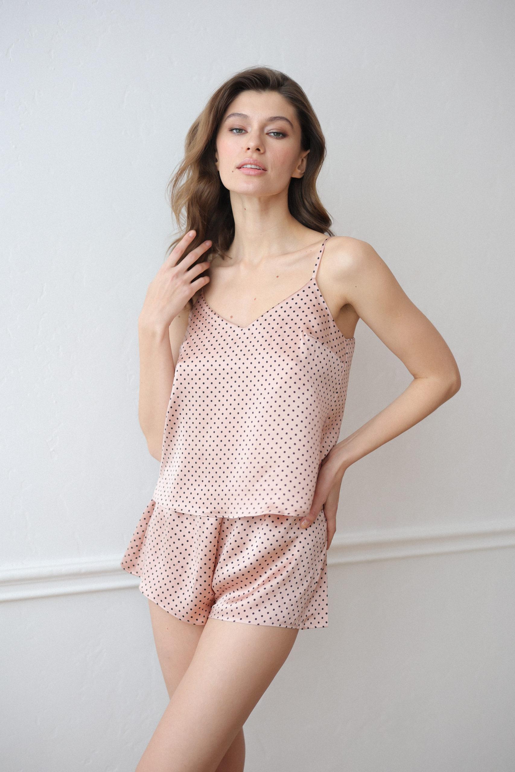 Пижама [пудровая в горох]